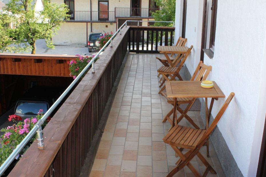 Balkon mit Sitzgarnitur Ferienwohnung