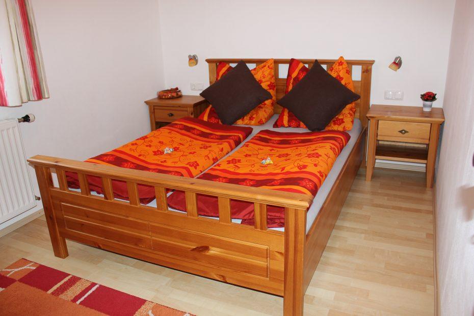Schlafzimmer orange